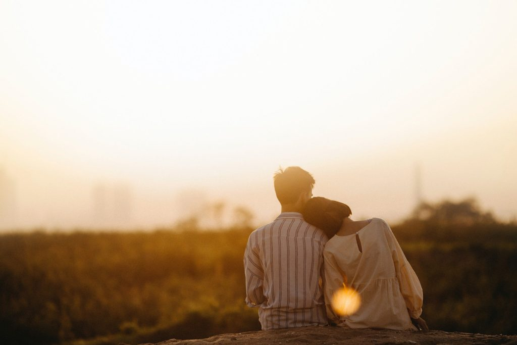 Peaceful couple after fertility preservation